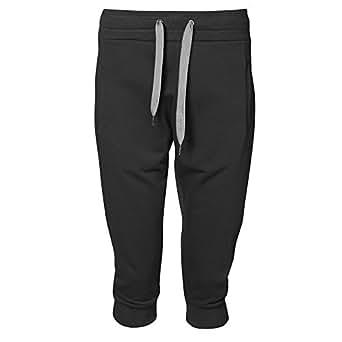 ID Womens/Ladies Sporty Capri Sweatpants/Jogging Bottoms (XS) (Black)