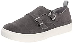 CK Jeans Men's Cabot Suede Fashion Sneaker, Dark Grey, 13 M US