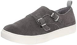 CK Jeans Men's Cabot Suede Fashion Sneaker, Dark Grey, 10 M US