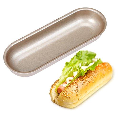 og Bun Pan Hotdog Bread Mould Non Stick Bakeware Oval Cake Mold ()