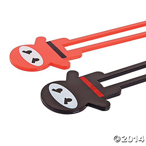 2 Pairs of Ninja Chopsticks - With Fighting Action! - SHIPS FREE!