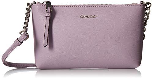 - Calvin Klein Hayden Key Item Saffiano Top Zip Chain Crossbody, Orchid
