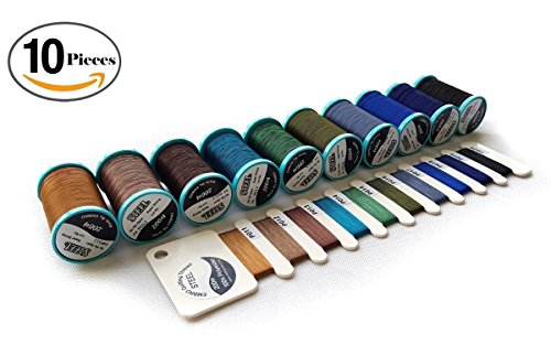 All Purpose Extra Strong Heavy Duty Bonded Sewing Thread (Fall) great for quilting, leather and denim products. 10-PACK 3PLY, 218YD each.