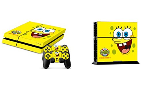 SpongeBob Squarepants Skins Game Decals Vinyl Sticker Decal for Playstation 4 PS4 Console and Controllers NO0101
