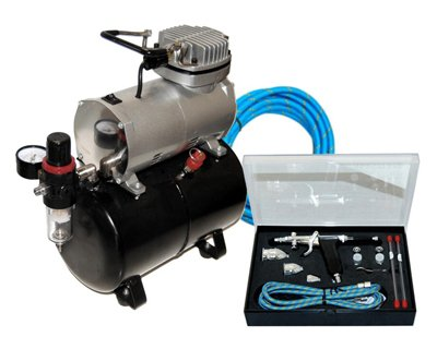 Master Airbrush Model G79-PROSET Airbrushing System with AirBrush-Depot TC-20... - Home Depot Compressor