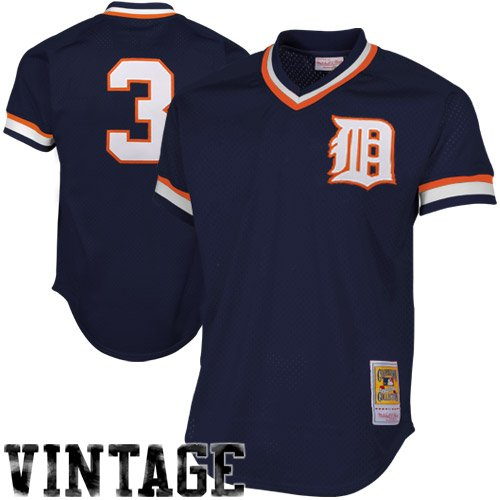 Alan Trammell Navy Detroit Tigers Authentic Mesh Batting Practice Jersey 3XL (56)