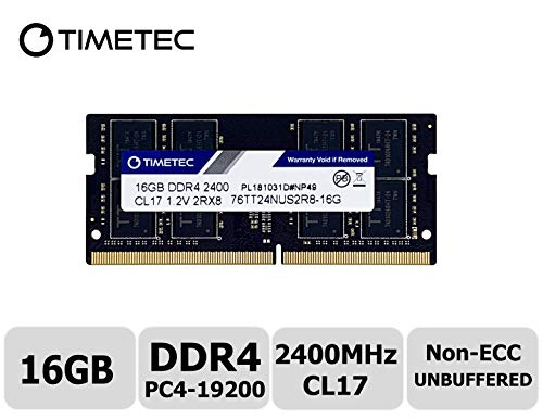 (Timetec Hynix IC 16GB DDR4 2400MHz PC4-19200 Non ECC Unbuffered 1.2V CL17 2Rx8 Dual Rank 260 Pin SODIMM Laptop Notebook Computer Memory Ram Module Upgrade(16GB))