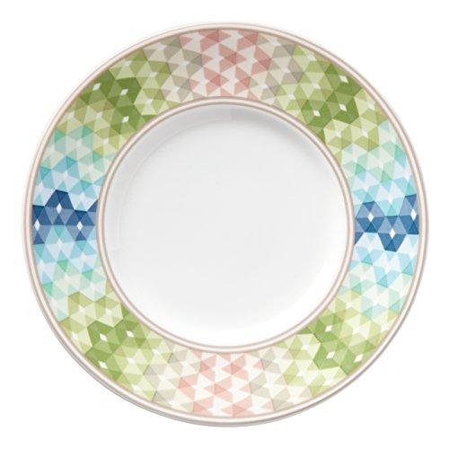 Lenox Entertain 365 Sculpture Green/Blue Dessert Plates (Set of 4), Multicolor