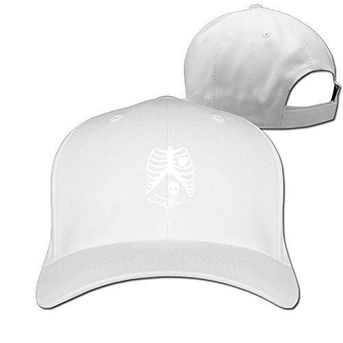 [Halloween Pregnant Skeleton Ninja Unisex Adjustable Basketball Hat & Cap White] (Halo Halloween Costumes Elite)
