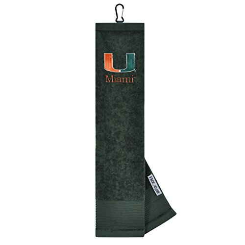 Miami Hurricanes Face/Club Embroidered Towel