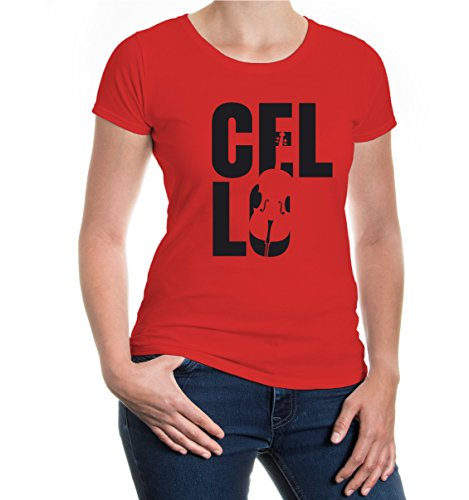 Girlie T-Shirt Cello Type Red