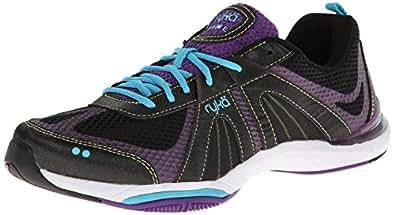 RYKA Women's Moxie Training Shoe,Black/Blast Purple/Detox Blue/Lime Shock,5 M US