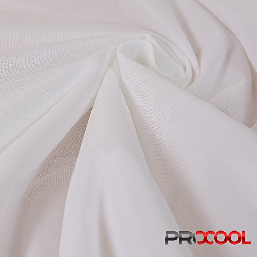 (ProCool Athletic Interlock (Made in USA, White, sold by the yard))