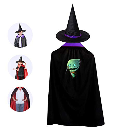 69PF-1 Halloween Cape Matching Witch Hat Rreen Sickle