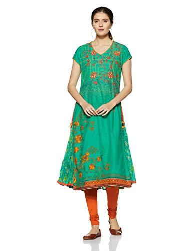 BIBA Women's Flared Cotton Kurta 36 - Salwar Cotton Suit