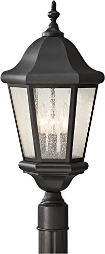 Murray Feiss Fans - Feiss OL5907BK Martinsville Outdoor Post Lighting, Black, 3-Light (10