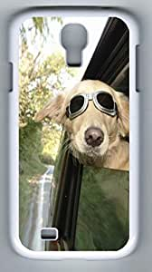 iCustomonline Dog Aviator Back Cover Back Cover Case For Samsung Galaxy S4 I9500 White
