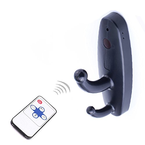 Mini Remote control Camera Clothes Hook Video Recorder Motion Activated Security DVR black