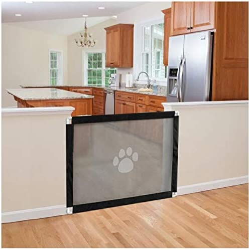 Safety Fence Dog Isolation Net Pet Fence for House Indoor Stair Doorway Use Dogs Magic Gate Baby Gate 39.3 X 31.5 Portable Folding Baby Safety Gates Pet Safety Guard Mesh