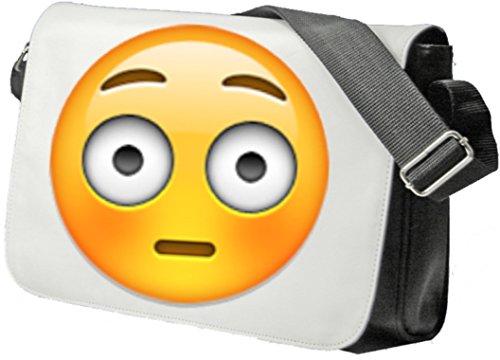 """Schultertasche """"Errötetes Gesicht"""" Schultasche, Sidebag, Handtasche, Sporttasche, Fitness, Rucksack, Emoji, Smiley"""