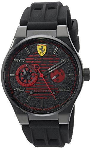 Ferrari Men's 'Speciale' Quartz Stainless Steel and Rubber Casual Watch, Color:Black (Model: 830431)
