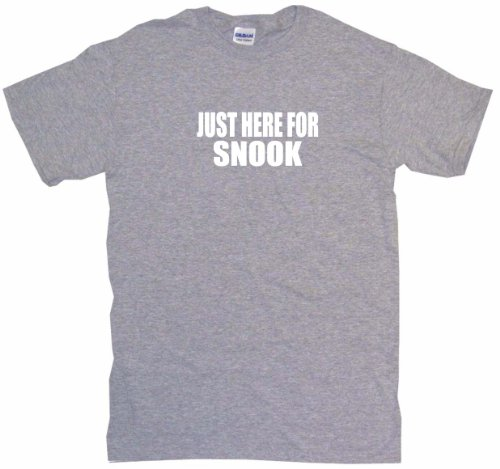 Just Here For Snook Men's Tee Shirt 3XL-Gray (Tee Snook Screen)