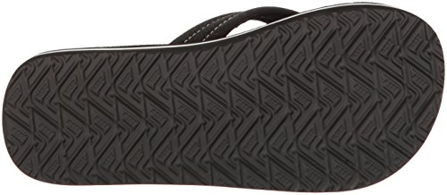 Reef Ahi Glow Kids Sandal (Toddler/Little Kid/Big Kid) Black/White