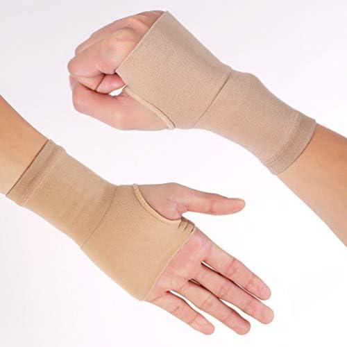 Healifty 1 Paar Handgelenk Ärmel Karpaltunnel Dünne Kompressionselastische Handgelenkspangen für Verstauchung Bursitis M