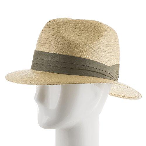 12e8e307a37 Ultrafino Monte Cristo Straw Fedora Panama Hat NATURAL WITH - Import It All