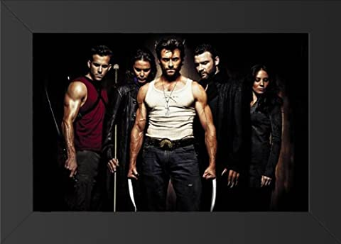 X-Men Origins: Wolverine Movie Art Print — Movie Memorabilia — 11x17 Poster FRAMED, Vibrant Color, Features Hugh Jackman, Liev Schreiber, Danny Huston, Dominic Monaghan, Will.i.am, Ryan (Wolverine X Men Claw Silver)