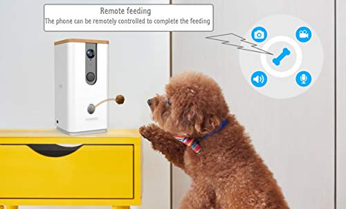DOGNESS Dog Camera Treat Dispenser,HD Video WiFi Pet Camera with 2-Way Audio and Night Vision,Monitor Your Dogs and Cats by DOGNESS (Image #2)