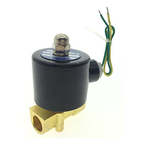 """YXQ AC 110V Electric Solenoid Valve 3/8""""Female Thread Brass Electric Controller Electromagnetic Control Liquid Water Gas Normally Closed Common to Air and Diesel"""