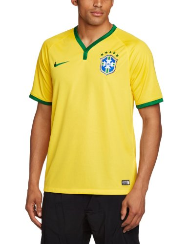 2014-15 Brazil Home World Cup Football Shirt Size Medium