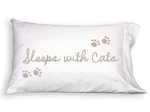 Pup Life Sleeps with Cats Single Pillowcase PupLife