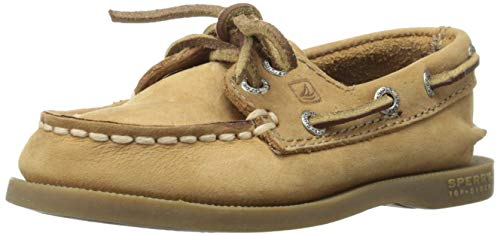 Sperry Athletic Boat Shoes - Sperry Authentic Original Boat Shoe (Toddler/Little Kid/Big Kid),Sahara,5 M US Big Kid