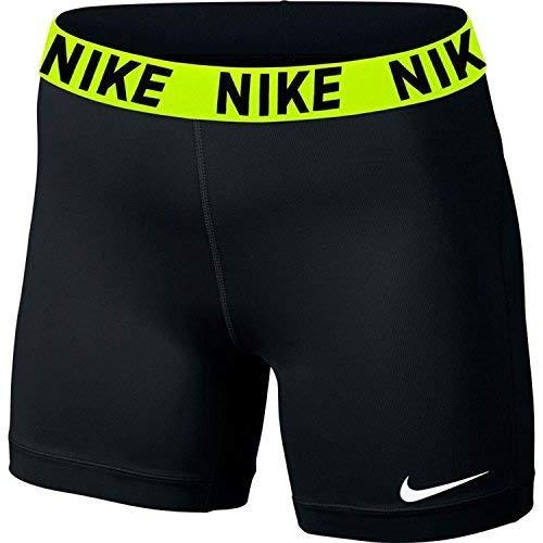 Women's Nike Victory Base Layer 5'' Training Shorts,Black/Volt/White,X-Small by Nike (Image #3)