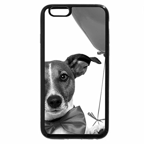 iPhone 6S Case, iPhone 6 Case (Black & White) - PARTY DOG