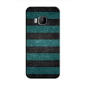 Cover It Up - Teal and Black Stripes One M9Hard Case