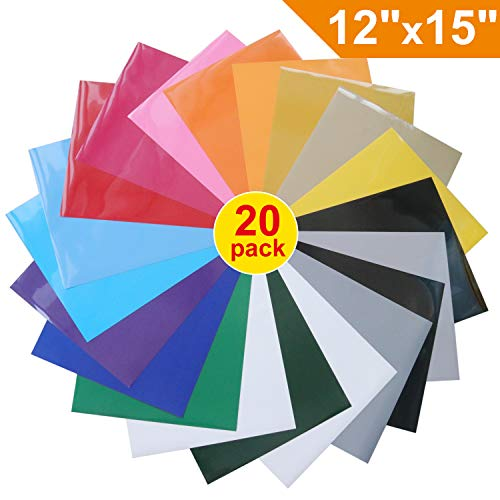 12' Pink 50 Sheets - Heat Transfer Vinyl for T-Shirts , 20 Pack - 12