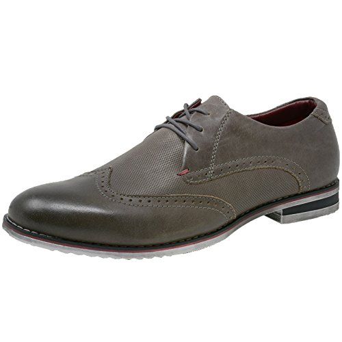 Alpine Swiss Double Diamond By Heren Oxfords Lederen Wingtip Dress Schoenen Grijs
