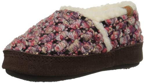ACORN Girls' L'il Jam Moc Slipper, Raspberry, 10-11 Standard Width US Little Kid
