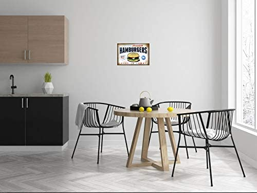 BlechschilderWelt Plaque en t/ôle Homestyle Burgers Best in Town Restaurant Cafe