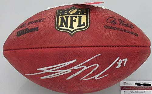 Wilson Signed Nfl Football - Jordy Nelson signed NFL Duke Football