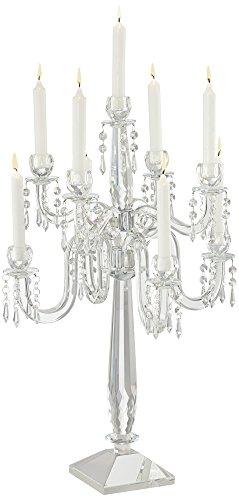 Universal Lighting and Decor Laramie Beaded 3-Tier Candelabra Candle Holder