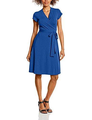 Azul Para cobalt Vestido Sleeve Mujer Cap Wrap Hotsquash YwqgF8Sw