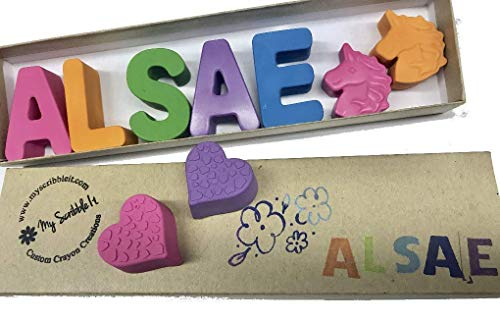 Personalized Name Crayons Kids Gifts, Birthday, Valentines Day, Easter, Teachers, Best Quality! from My Scribble It
