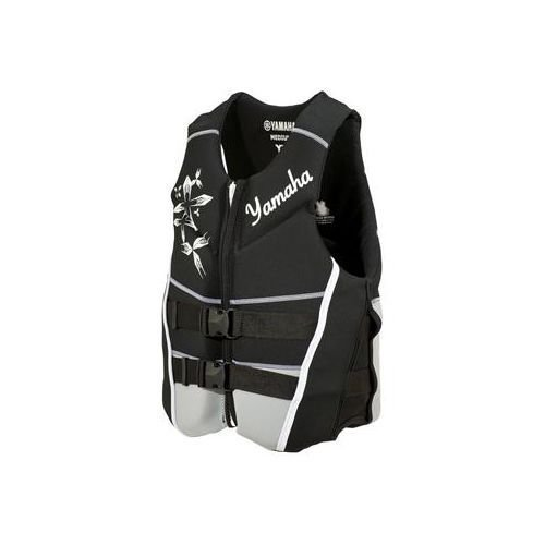 OEM Women's Yamaha Neoprene 2-Buckle Life Jacket Vest PFD Black X-Large