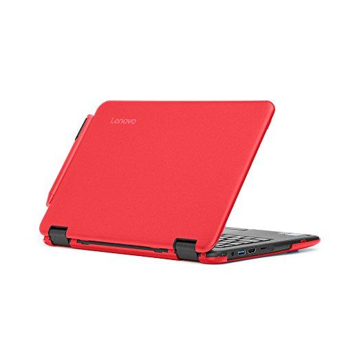 mCover Hard Shell Case for 2017 11.6 Lenovo N24/300E Series Windows Laptop (NOT Fitting Lenovo N21/N22/N23 Series Chromebook Laptop) (Red)