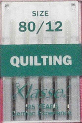 Klasse Size 80/12 Quilting Needles 5 Pack (Klasse Quilting Needles compare prices)