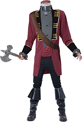 California Costumes Men's Sleepy Hollow Headless Horseman Costume, Red/Gray, (Adult Headless Horseman Costumes)
